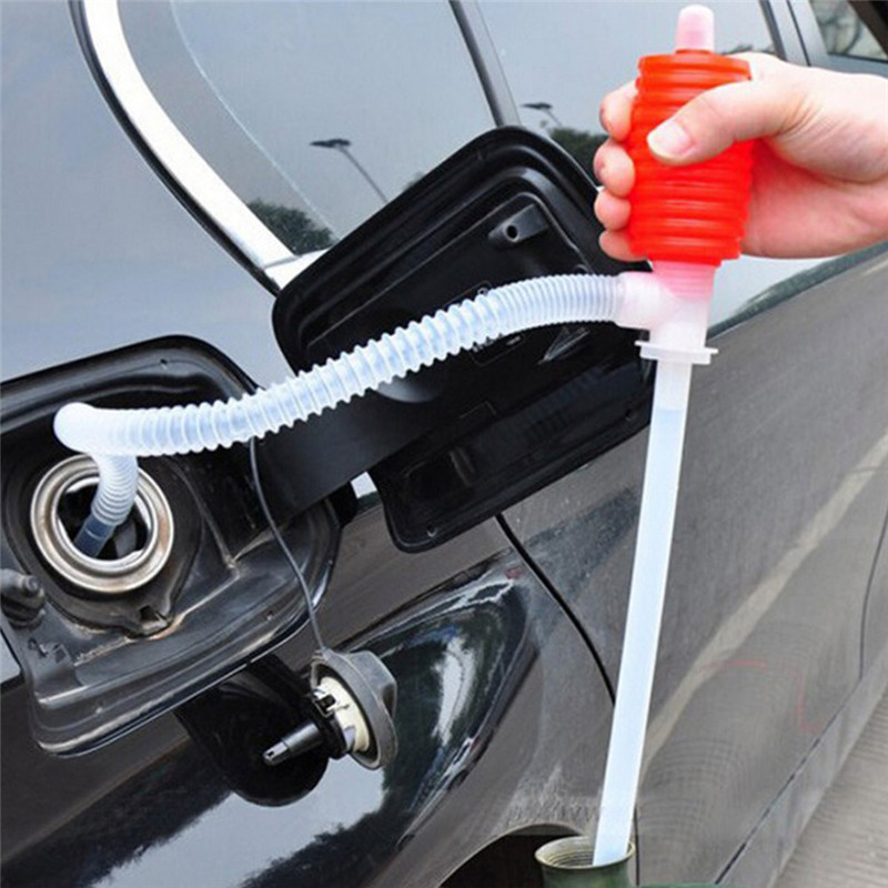 New Portable Car Manual Hand Siphon Pump Hose Gas Oil Transfer Pump Plastic For Waterbed Broken Wash Machines Boat image