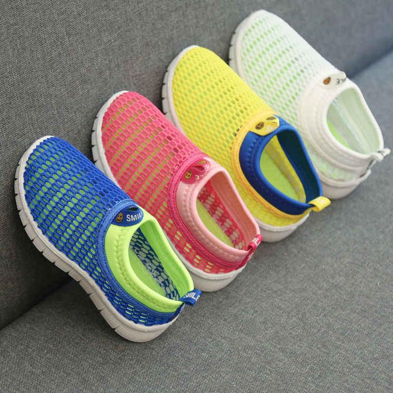 2019 Nieuwe Kinderen Schoenen Jongens Sneakers Zomer Meisjes Mesh Peuter Casual Schoenen voor Kinderen Sport Ademende Loafer Mode Baby Schoenen