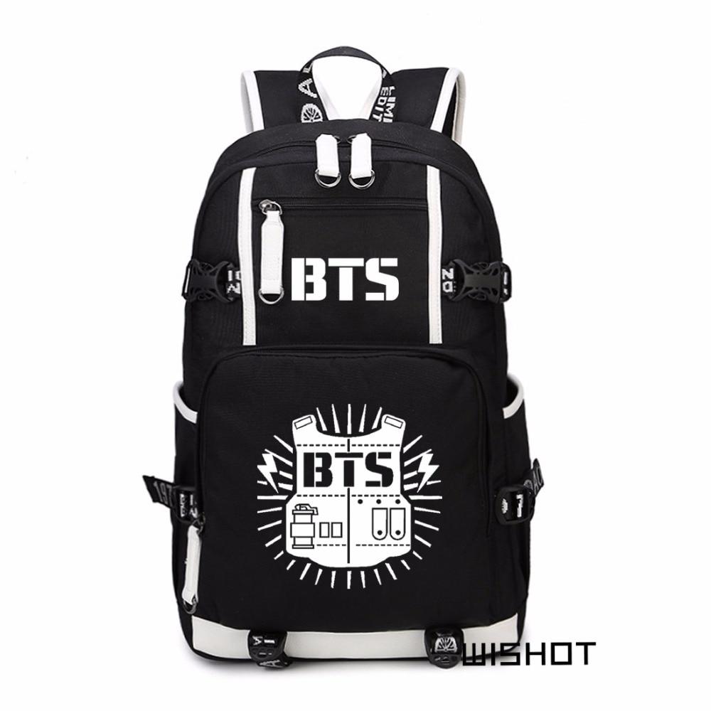 Laptop bags korea - Bangtan Boys Bts Korea Backpack Schoolbag Casual Backpack Teenagers Men Women S Student School Bags Travel Shoulder