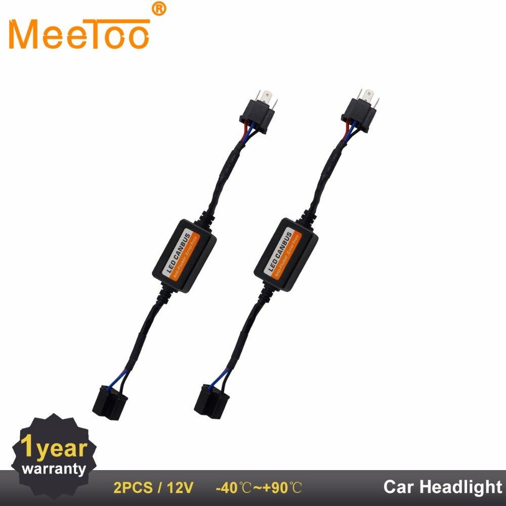 H7 H4 H11 HB4 9005 9006 H1 Dell'automobile LED Girare Singal Carico resistore Canbus H13 9004 9012 880 881 Privo di errori di Cablaggio Canceller Decoder