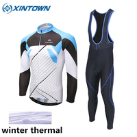 XINTOWN Cycling Set Winter Thermal Fleece Long Sleeves Cycling Jerseys Ropa Ciclismo Keep Warm Bicycle MTB