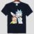 Rick e morty cinza dos homens de manga curta T-shirt de algodão gola Redonda branca Anime tema Lazer T-shirt