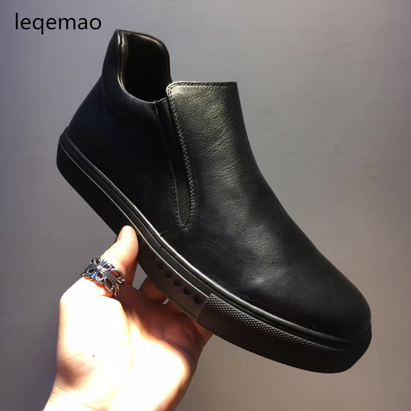 Spring Autumn Fashion Luxury Men Loafers Comfortable Black Flats Casual Shoes High Quality Nuduck Genuine Leather Brand Shoes dxkzmcm genuine leather men loafers comfortable men casual shoes high quality handmade fashion men shoes