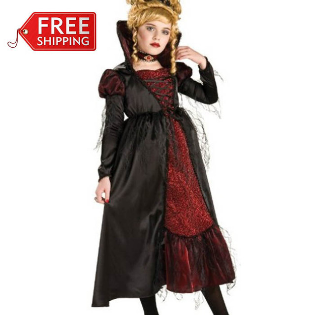 Halloween costumes for kids gothic v&ire costume for girls carnival party children cosplay costume fantasy dress  sc 1 st  AliExpress.com & Halloween costumes for kids gothic vampire costume for girls ...