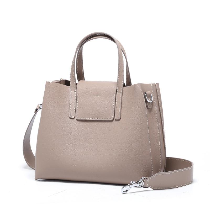 купить Fashion women tote bag designer Genuine Leather handbags Female shoulder bag women Messenger Bags lady Top-Handle borse da donna по цене 5008.02 рублей