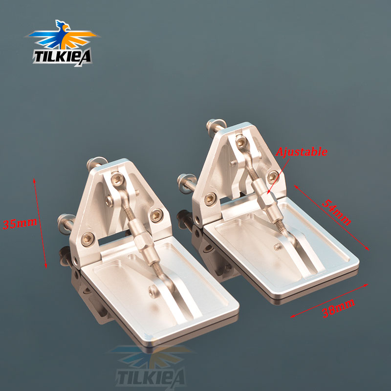 CNC A Pair Of High Quality Adjustable Trim Flaps 38 54mm Aluminum Alloy For Nitro Gas