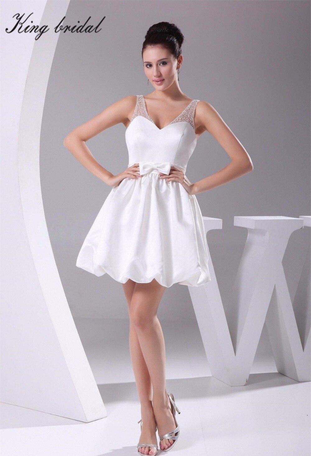 Short White Backless Prom Dress