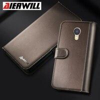 Aierwill Genuine Leather Case For Meizu A5 M5C Case Flip PU Back Cover For Meizu M6