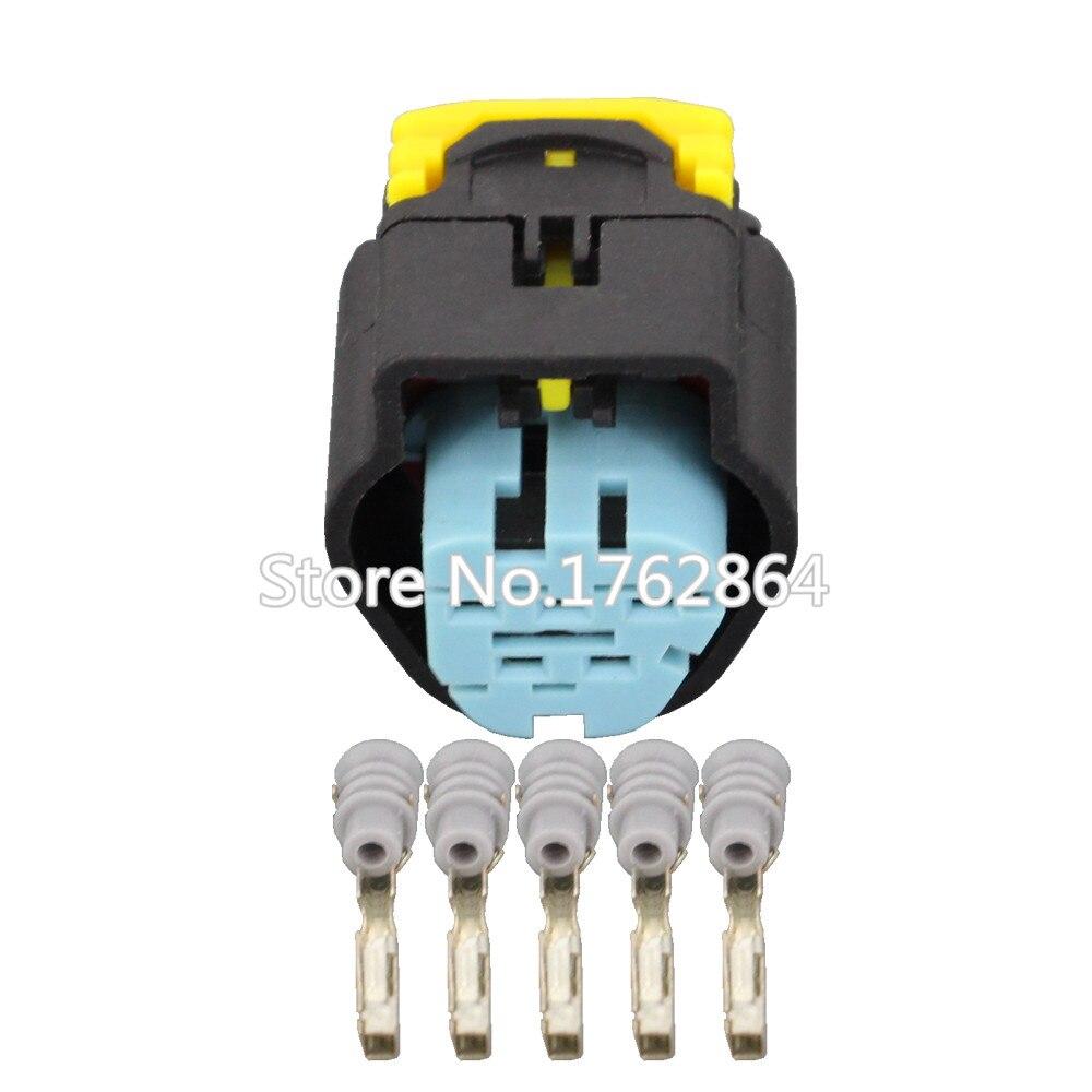 DJ7051F-1.5-21Waterproof 5 Pin Fio Conector Elétrico Automotivo Para VW Audi Sensor de Injetar Serve Para Ford 1928405138 5 P
