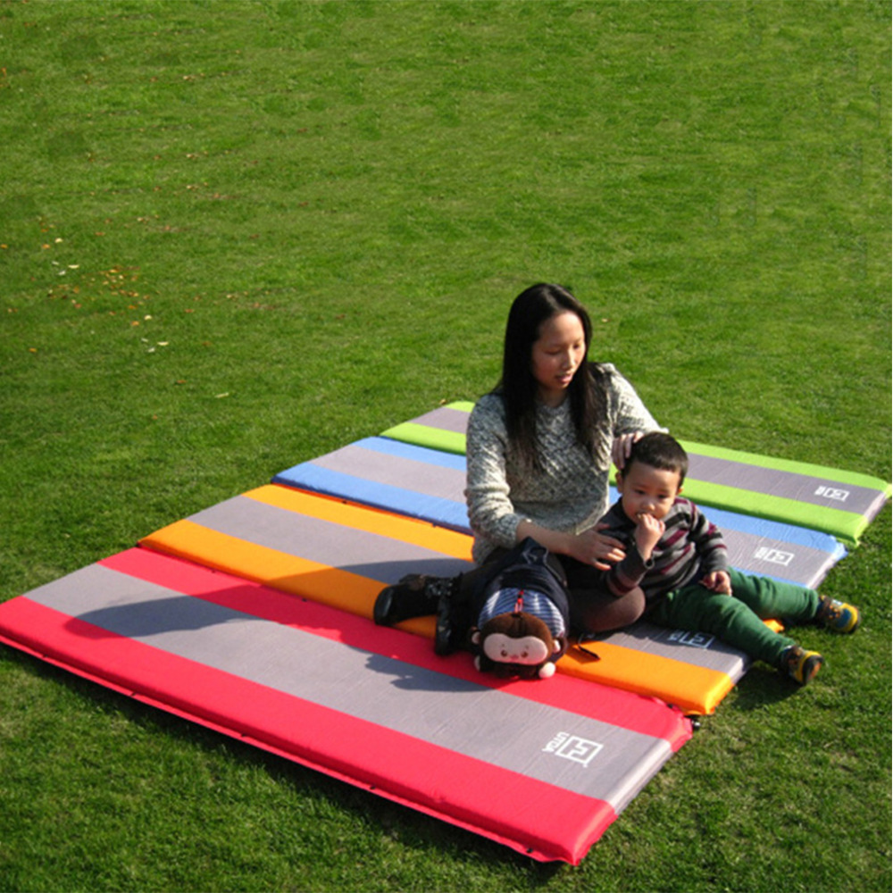 Self Inflate Foam Sleeping Mat Camping Mattress Air Bed Double Single Roll Up Free Shipping