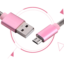 цена на Micro USB to Type C Sync Data Cable for Samsung Galaxy For Other Android Phones USB Charging Cable Decorated with Spring Hot