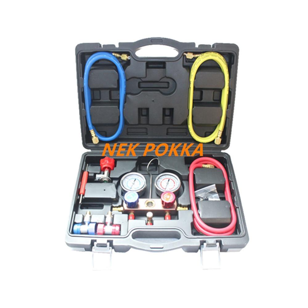 Filling refrigerant pressure gauge, 134A R410A R22 R404A refrigerant measurement filling pressure gauge,oil gauge