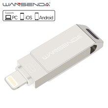 Wansenda USB Flash Drive for iphone/iPad/Android smartphone 16GB/32GB/64GB Pen Drive usb stick OTG pendrive usb 2.0 flash Disk