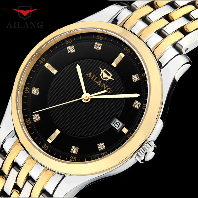 AILANG Mechanical Watches Men Classic Automatic Mechanical Watches Waterproof Self-winding Clock Stainless Steel Watch A070 ailang luxury men mechanical watch classic date automatic mechanical watch self winding skeleton stainless steel strap watches