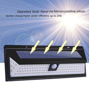 Image 3 - 180LEDs PIR hareket sensörlü ışık açık LED projektörler güneş enerjili işık duvar lambası ev bahçe güvenlik sundurma işıkları