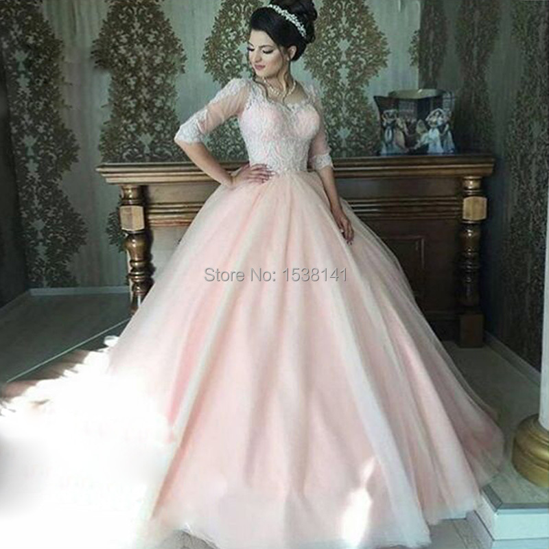 De mariage 2017 Nouvelle Dentelle Manches Robes De Mariée Turquie SA Style  robe de Bal Robes