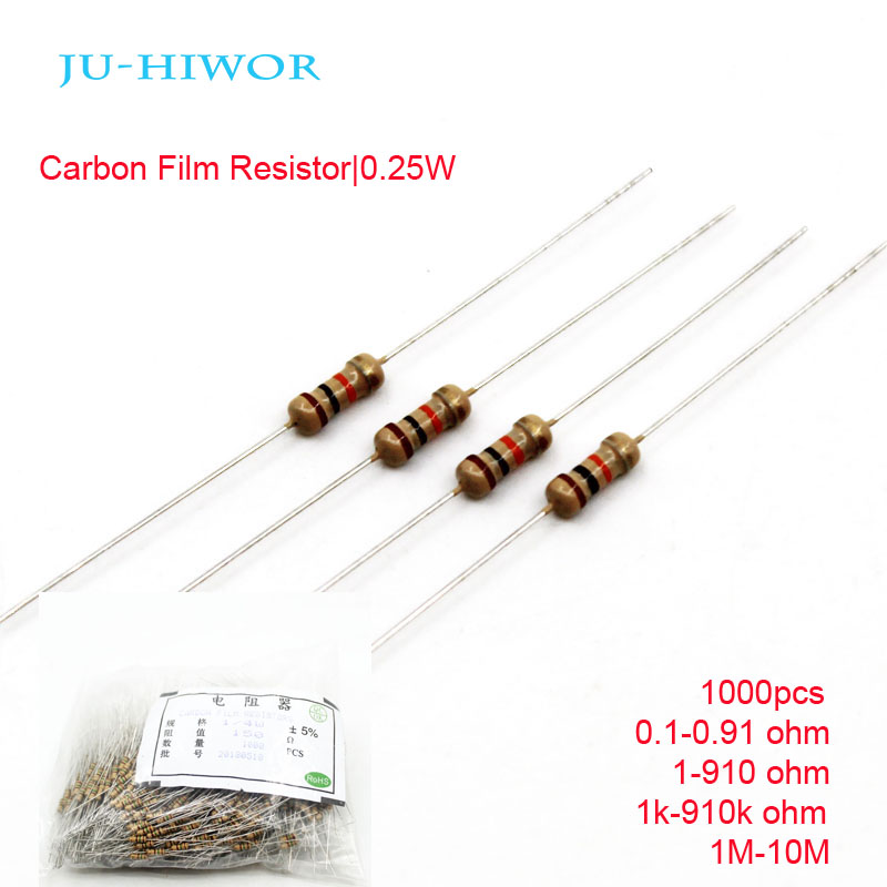 of 10 110 Ohm Pkg 1//2 Watt Carbon Film Resistors
