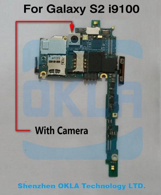 imágenes para Con Cámara Utilizada Mainboard del teléfono original para Samsung Galaxy S2 i9100 Reemplazo Placa Madre Placa Principal