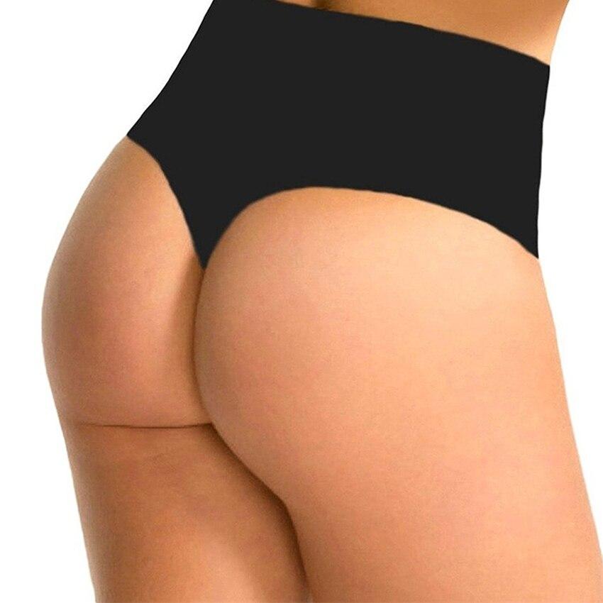 0b87527c823 MYLEY Women High Waist Trainer Tummy Slimming Control Waist Cincher Body  Shaper Thong G-string
