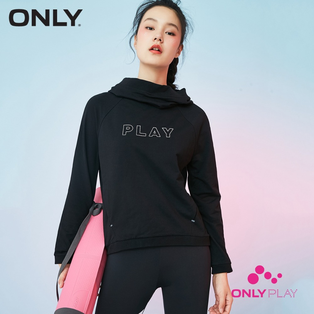 Только летом черный пуловер с капюшоном флис женский | 11739S587
