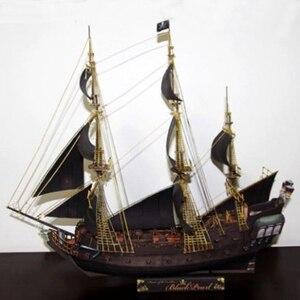 Бумажная модель, «сделай сам», «Пираты Карибского бассейна», черная жемчуга, античный парусник, военный корабль, доставка, подарки