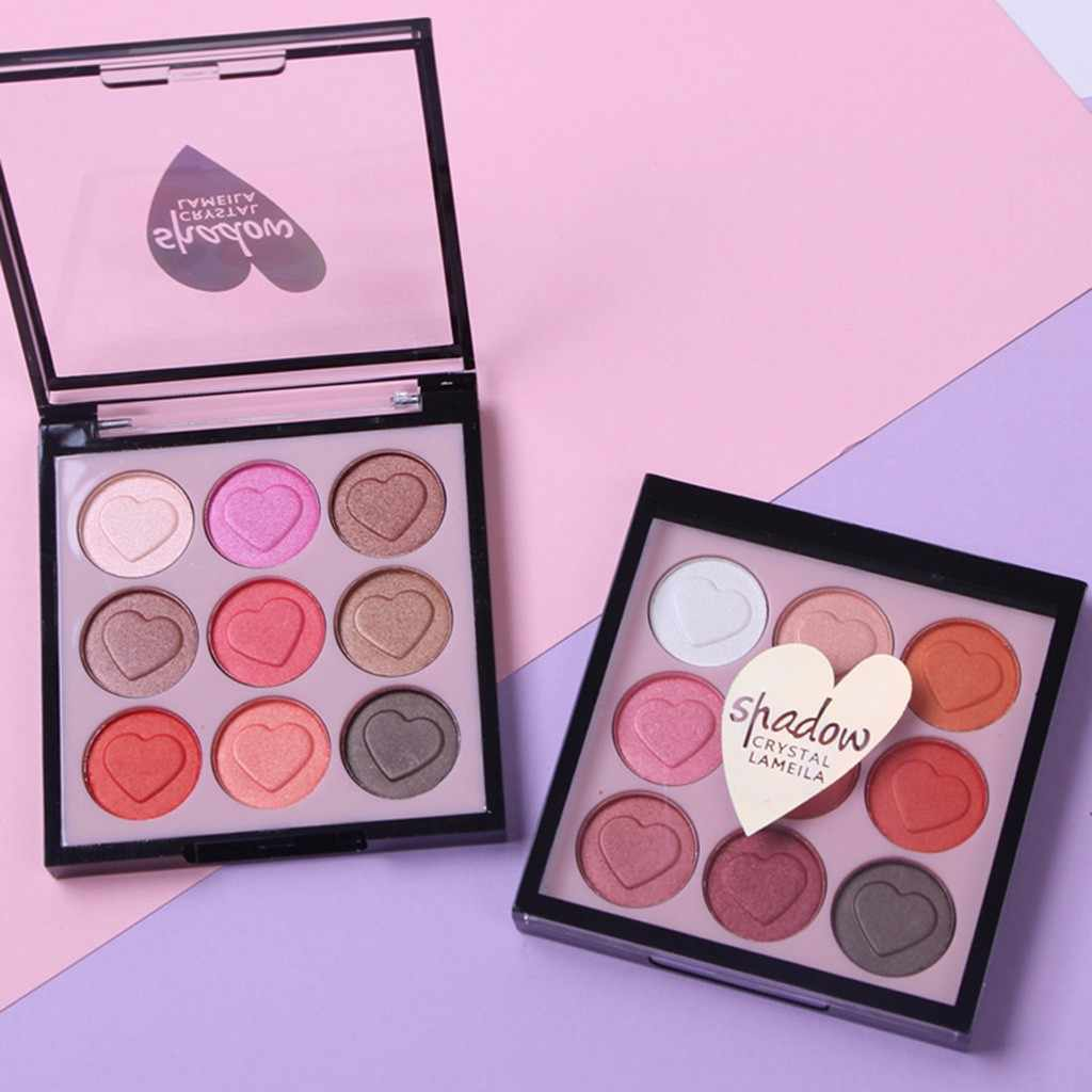 Hot Fashion Makeup Eye Shadow Eyeshadow Kosmetik Set dengan Sikat 9 Warna Eye Makeup Palet Alami Shimmer Matt Setr F5.10