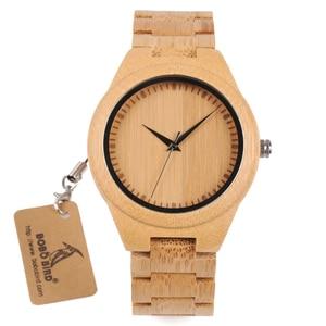Image 4 - BOBO BIRD WD19 Top Brand Designer Full Bamboo Mens Watches Luxury Japanses Moyia Movement Quartz Wristwatches Wooden Box