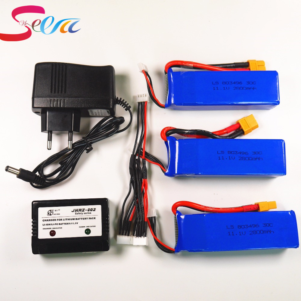 Newest 2/3pcs Cheerson CX-20 CX20 11.1V 2800mah 30C Li-po Battery With Charger CX 20 RC Quadcopter Spare Parts Max Rate For Toys cheerson cx 20 cx20 spare parts skid landing gear for cx 20 rc quadcopter cx 20 019 free shipping shuang he