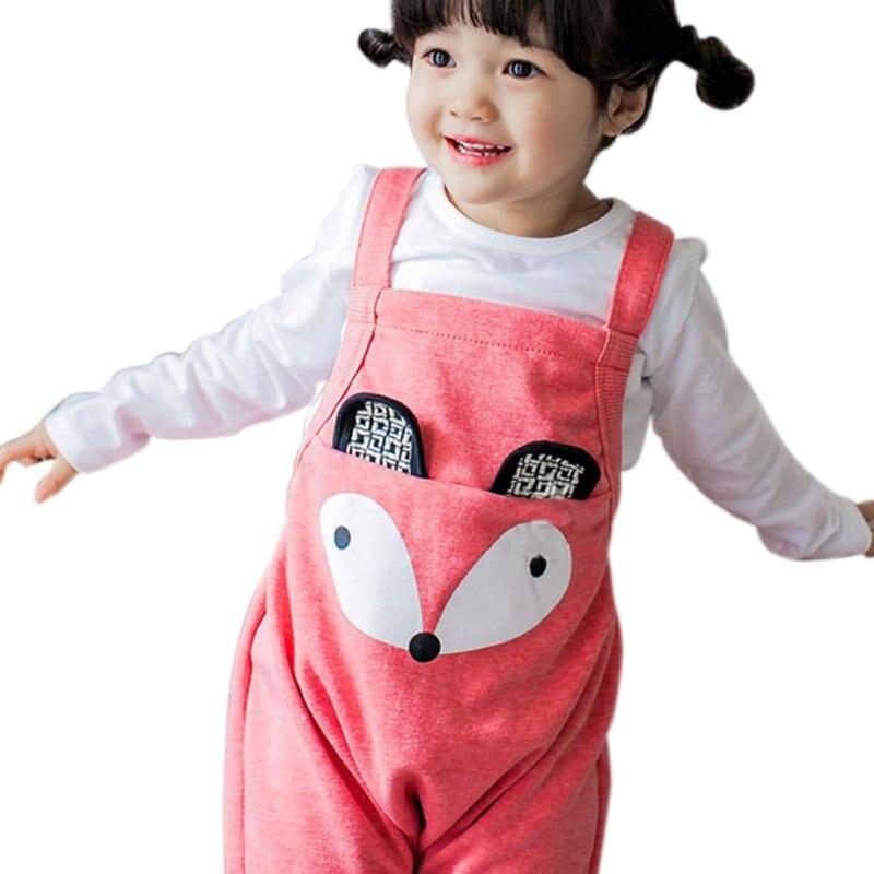 Baby Overalls Baby Girl Clothes Cartoon Fox Baby Clothes Spring Baby Boy Clothes Cotton Palytoday Girl Bib