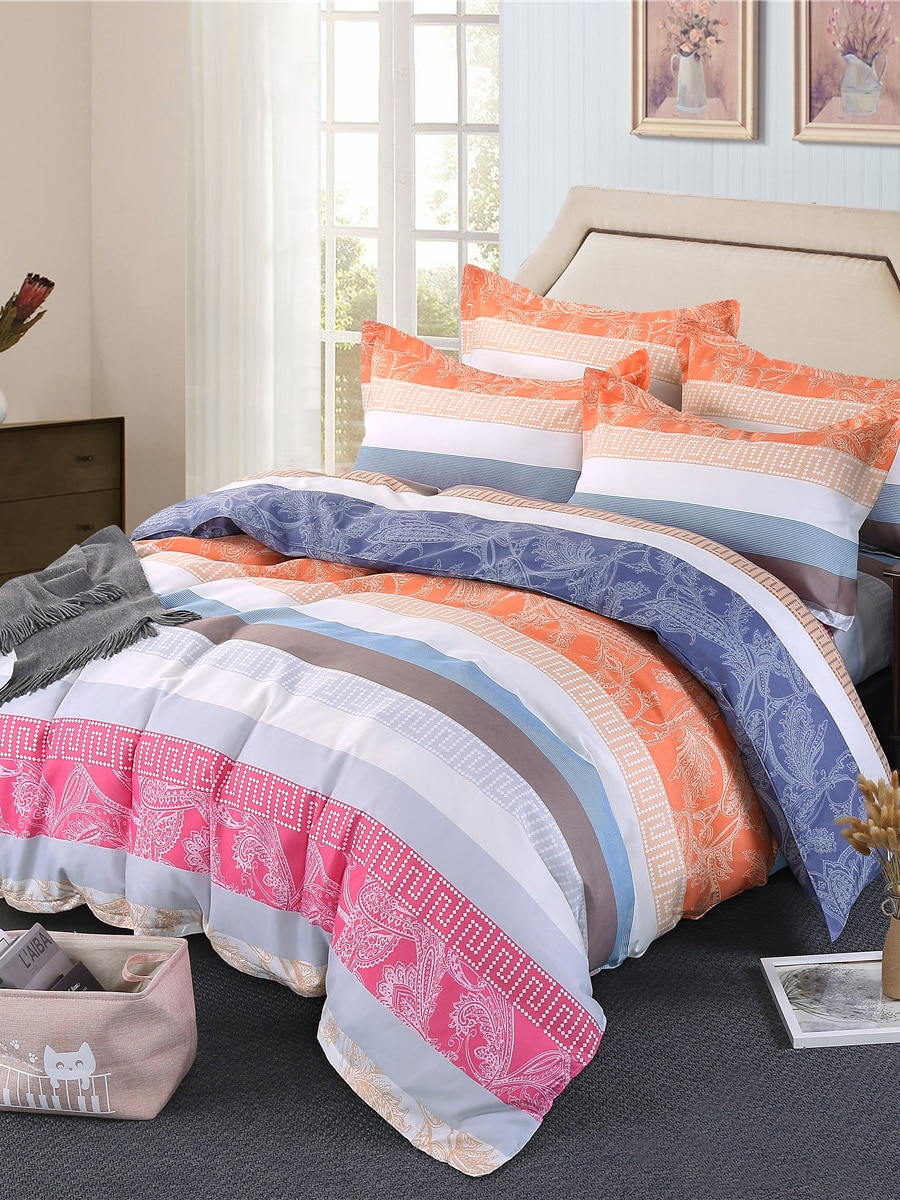 4Pcs Duvet Cover Set Floral Modern Simple Style Soft Bedding Set 4Pcs Duvet Cover Set Floral Modern Simple Style Soft Bedding Set