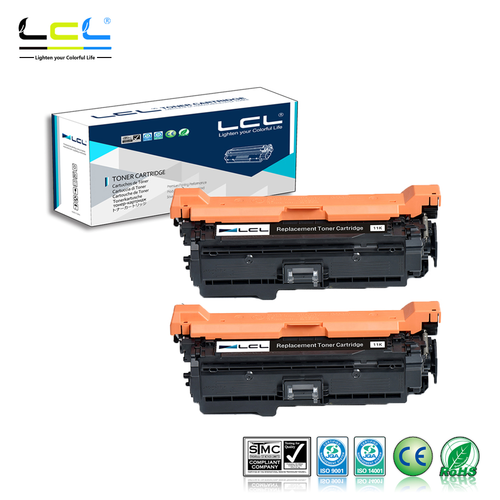 LCL 507X 507A CE400X CE400A (2-Pack Black) Laser Toner Cartridge Compatible for HP Enterprise 500 color M551/N/DN/XH 8 500 page high yield toner cartridge for dell b2360 b2360d b2360dn b3460dn b3465dn b3465dnf laser printer compatible 2 pack page 1