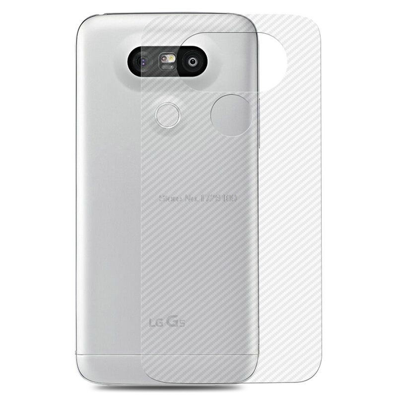 2 шт./лот Вернуться углеродного волокна Стикеры для LG G6 Ultra Clear ультра тонкий Slim Fit Защитный Флим кожи задняя крышка чехол