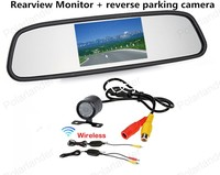 High Definition 420 TV Line Resolution Camera Tft Lcd Rearview Mirror Monitor Kit For Car
