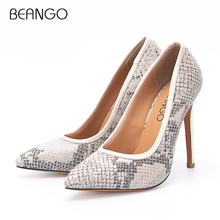 BEANGO Ladies Sexy High Heel Shoes 11cm Thin Heel Stiletto Top Quality Slip On Pumps Sexy Party Shoes Women Size 34-42EU plus large size spring office women pumps glitter pu leather thin spike high heel stiletto sexy autumn party gold ladies shoes
