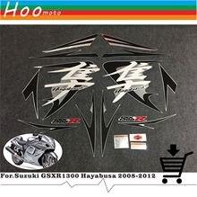 Motocicleta pegatinas Vehículos Completos y calcomanías DIY MOTO para Suzuki GSXR 1300 GSX 1300 R Hayabusa GSXR1300 2008-2012 etiquetas autoadhesivas