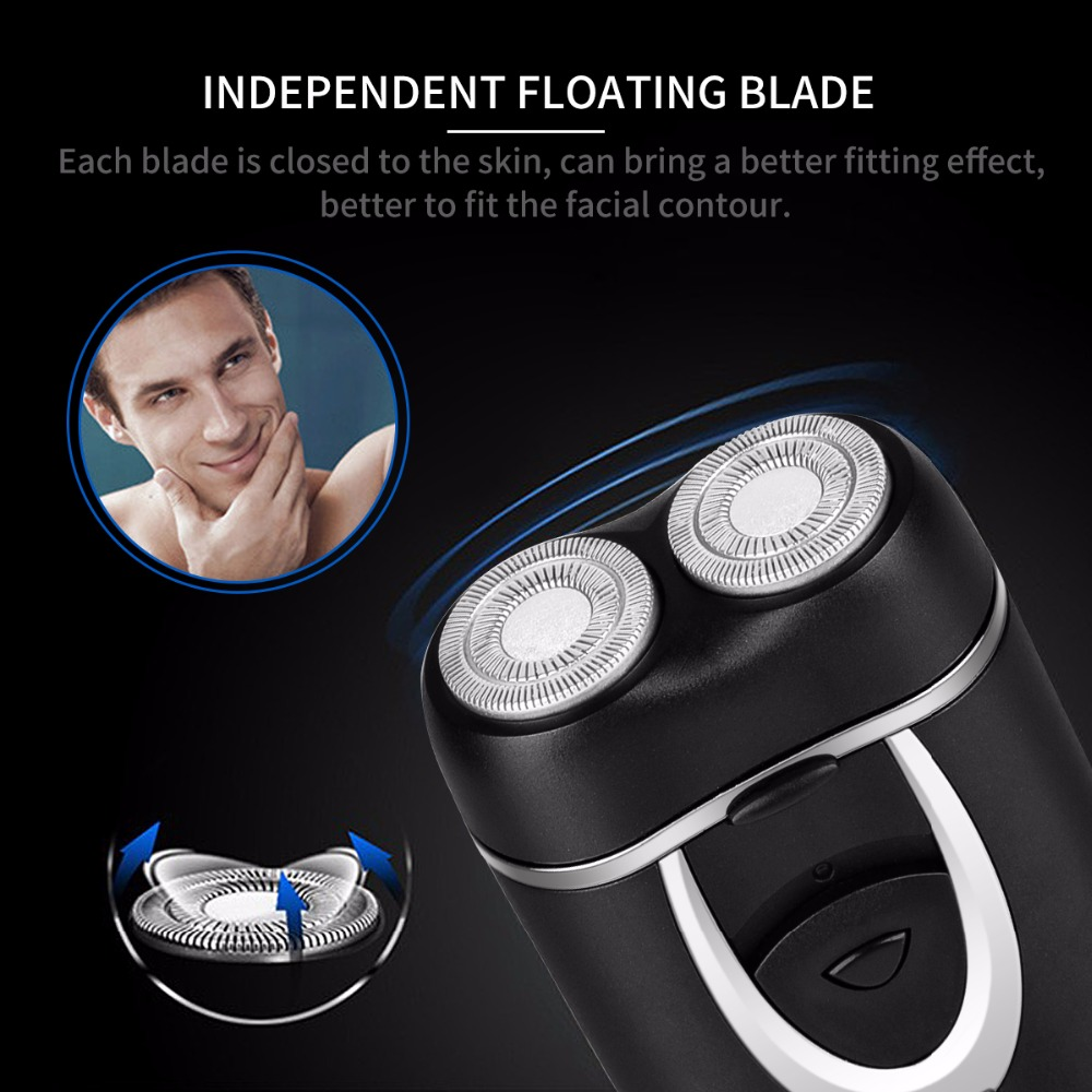 Independent Dual-Blade Portable Rechargeable Electric Shaver razor beard shaving machine barber face care for men cutter trimmer 2017 hot sales new primitive man shaving machine 5 d waterproof rechargeable crime is portable travel man to the electric razor