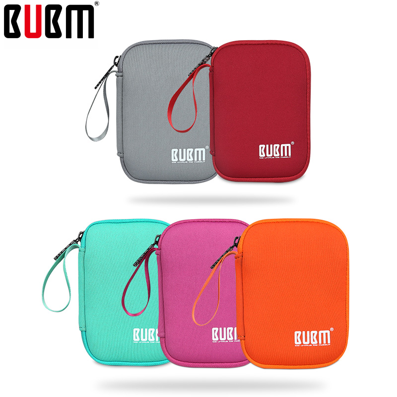 Bolsa BUBM para bolsa de asa bolsa de disco duro portátil bolsa de banco de energía portátil multicolor bolso suave para hombres mujeres universal