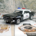Brand New KINGSMART 1/37 Scale USA 1967 Chevrolet Camaro Z-28 Police Version Diecast Metal Pull Back Car Model Toy For Gift