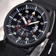 Мужские s дешевые часы мужские нейлоновый ремешок Дата кварцевые часы мужские Модные Аналоговые Бизнес часы спортивные военные часы relogio masculino