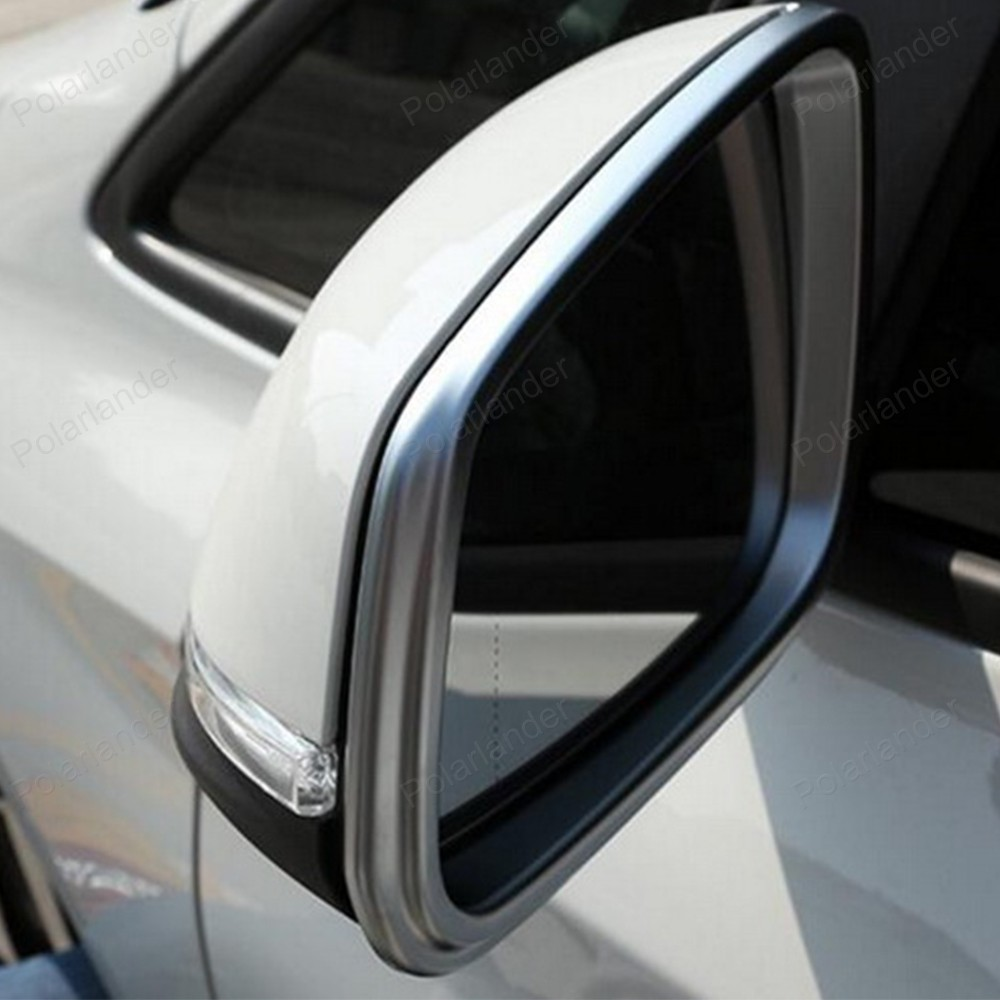 ABS chrome car rear view door mirror cover trim protective frame  for B/MW 2 Series 218i 2014 2015 2016 molding garnish car abs chrome interior inside inner door window glass switch panel cover trim frame molding 4pcs for vw tiguan l mk2 2016 2018