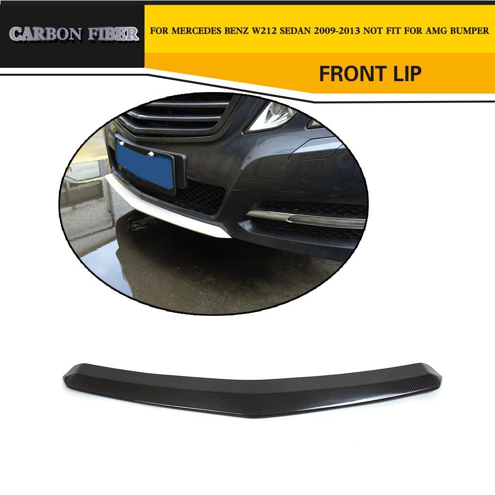 Car Styling Carbon Fiber Front Lip Spoiler For Benz E Class E200 E260 E300 W212 W212 Standard Bumper 2009 2012 front lip spoiler lip spoiler carbon fiber front lip - title=