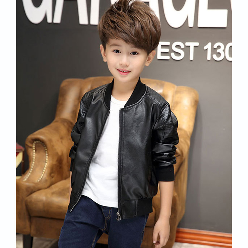 b0b971e49 2017 New Boys Winter Coats Leather Jackets For Boys Fashion Children ...
