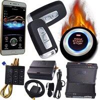 Bluetooth GSM gps GPRS автомобилей gps отслеживания Системы с пультом дистанционного управления для автомобиля мобильное приложение управления Кнопк
