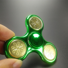 Big size Hand Spinner SCCJGL Brand Fidget Plating Gold EDC Finger Figet Spiner For Autism ADHD Stress Relief Toys Puzzle Cube(China)