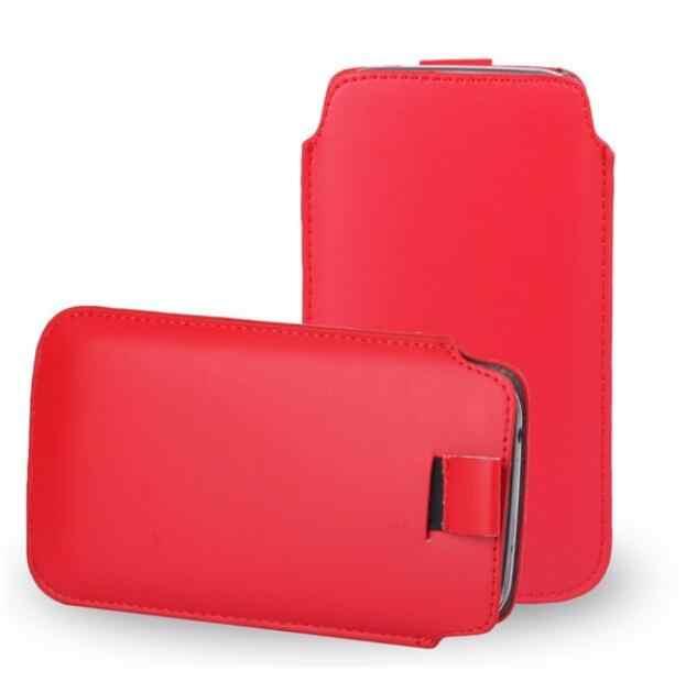 ケースのための iphone 11 プロマックス 8 プラス 7 プラスケースユニバーサル革ケース Apple の iphone XS 最大 6 プラス 6 4s 5 5s 4 4s 電話ポーチバッグ