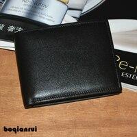 Men S Wallets Genuine Leather Bifold Wallet Card Holder Coin Purse Pockets Zipper Wallets Preppy Style