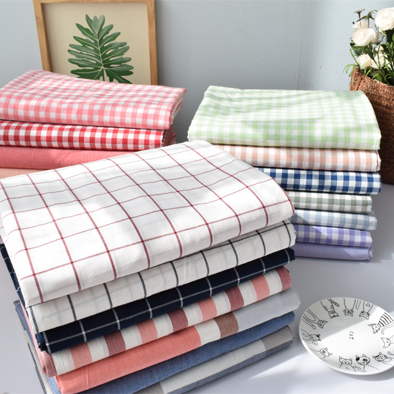100x250cm/piece 100% Washable cotton fabric, DIY Sewing Will Bedding Quilt Comfortable Geometry Style Sheet Denim Bedding Fabric
