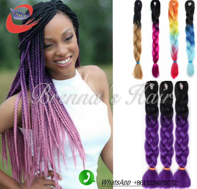 Buy Large Box Braids crochet braiding hair extension havana box braids ...