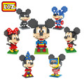 LOZ Building Blocks Superman Batman Magician Diver Captain America Mickey and Minnie Toys for Children Middle Size 9+ Gift