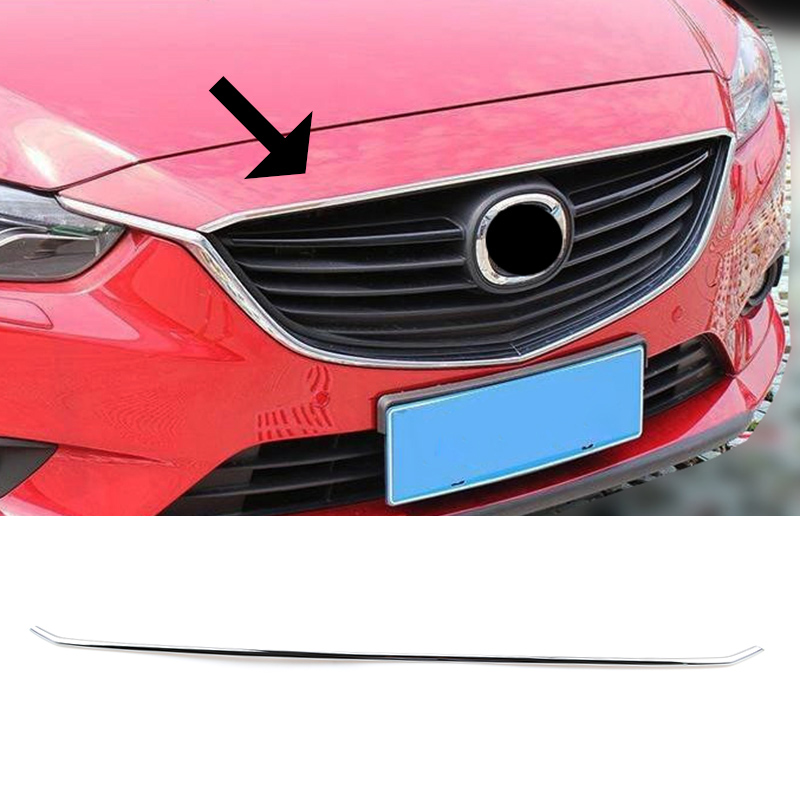Front Grille Hood Lip Cover Trim Chrome Fit Honda Accord 2003-2007 2006 1PC Car